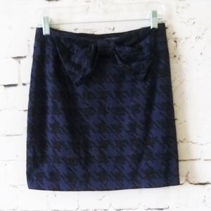 Forever 21 Houndstooth Bow Mini Skirt M